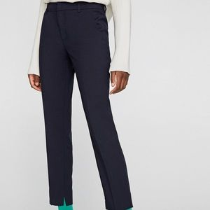Zara navy trousers. NWT.